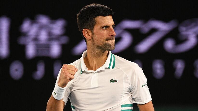 Novak Djoković w finale AO 2021